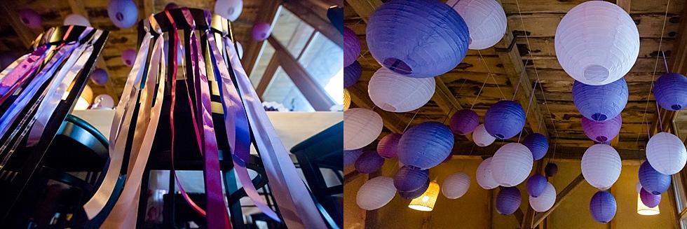 lila Ballons, Lila Hochzeitsdeko