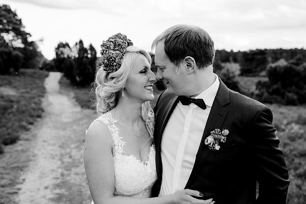 Brautpaar in der Heide, Büsenbachtal