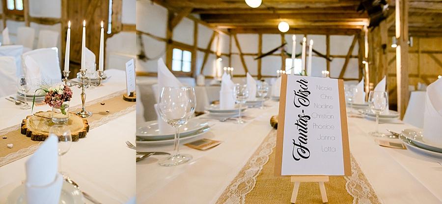 aldags-landpartie, Scheunenhochzeit, Tischdeko Hochzeit